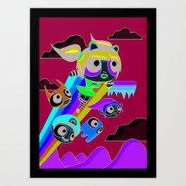 The Power Nyan Girl Art Print
