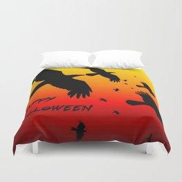 Happy Halloween Murder of Crows  Duvet Cover