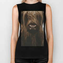 Scottish Highland Cattle Biker Tank