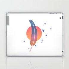 minimal feather sunset Laptop & iPad Skin