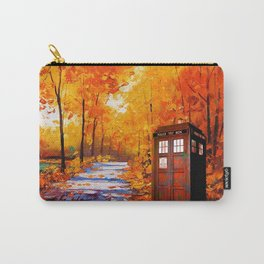 Tardis Autumn Art Painting Carry-All Pouch