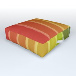 Vertical Color Tones #1 Outdoor Floor Cushion