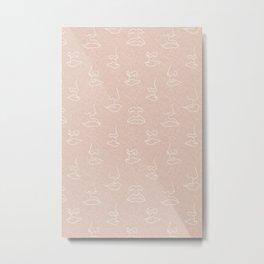 aria faces - blush Metal Print