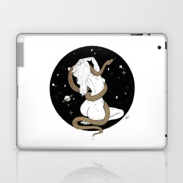 Space Goddess and the Golden Snake Laptop & iPad Skin