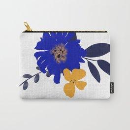 Daisy - Blue Carry-All Pouch