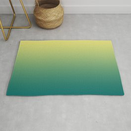 Yellow Lime Quetzal Green Ombre Gradient Pattern Rug