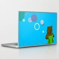 scuba Laptop & iPad Skins featuring Scuba Bear by jason sharpe