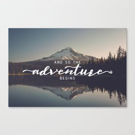 Trillium Adventure Begins - Nature Photography Canvas Print