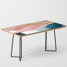 Exhale: a pretty, minimal, acrylic piece in pinks, blues, and gold Coffee Table