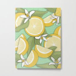 Lemon Pattern 03 Metal Print