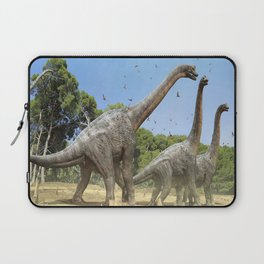 Dinosaurs walking on the river Laptop Sleeve
