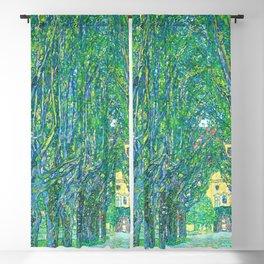 Gustav Klimt - Allee im Park von Schloss Kammer (new editing) Blackout Curtain