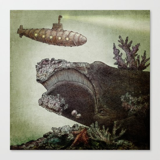 Leviathan (colour option) Canvas Print