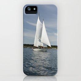Schooner Martha Boat Sailboat Port Townsend Washington Sailing Northwest Sailor Regatta iPhone Case