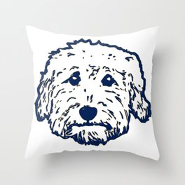 Goldendoodle dog face silhouette - perfect Golden doodle gift idea Throw Pillow