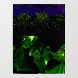 garden at midnight Poster