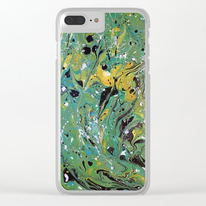 Original, Acrylic Painting, Poured Painting, Abstract, Acrylic Flow, Art  Resin, Art Epoxy, Fluid Clear iPhone Case by olga367art