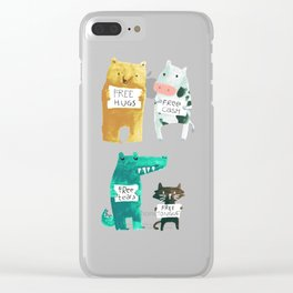 Animal idioms - its a free world Clear iPhone Case