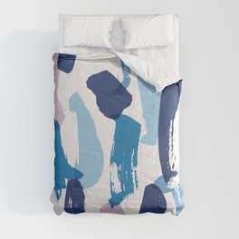 Blue and pink brushstrokes pattern Comforters