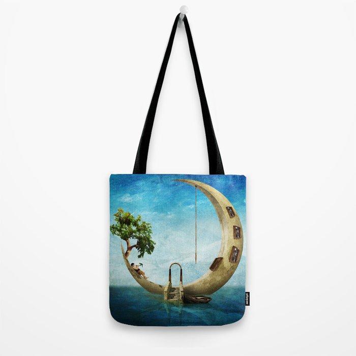 Home Sweet Moon Tote Bag