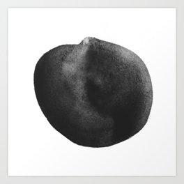 Black ink Art Print