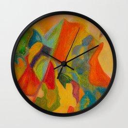 Primordial Soup Cubism Wall Clock