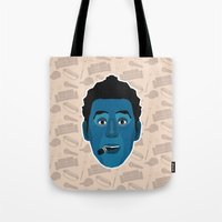 seinfeld Tote Bags featuring Cosmo Kramer - Seinfeld by Kuki