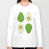 avocado Long Sleeve T-shirts featuring Avocado by Silja Rouvinen