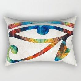 Eye of Horus - Art By Sharon Cummings Rectangular Pillow