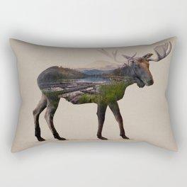 The Alaskan Bull Moose Rectangular Pillow