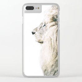 NORDIC LION Clear iPhone Case