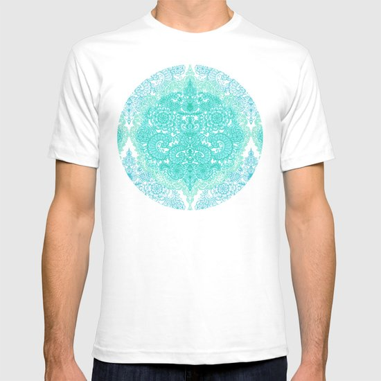 Happy Place Doodle in Mint Green & Aqua T-shirt