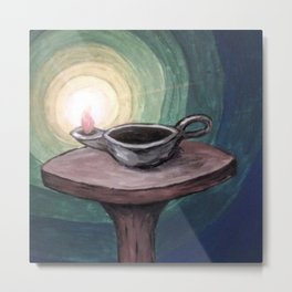Lamp of Annointed Oil Metal Print