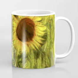Sunflower Abstract Art Coffee Mug