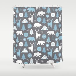 Mountain Animals Shower Curtain