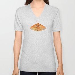 Spiny Oakworm Moth (Anisota stigma) Unisex V-Neck