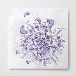 Purple bouquet and butterflies Metal Print
