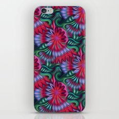 Abstract Poinsettia Pattern Digital Painting iPhone & iPod Skin