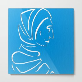 Veiled Woman Metal Print