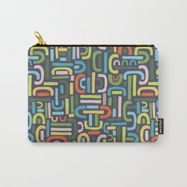 Retro Shapes Carry-All Pouch