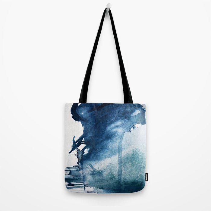 Pacific Grove: a pretty minimal abstract piece in blue by Alyssa Hamilton Art Tote Bag