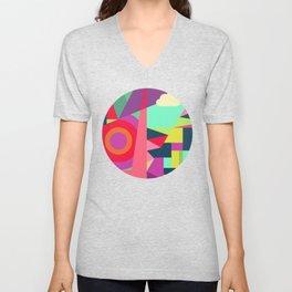 Geometric#7 Unisex V-Neck