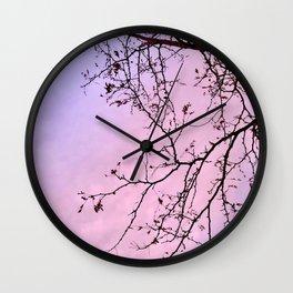 Purple Prose Wall Clock