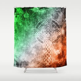 Irish Celtic Cross Shower Curtain