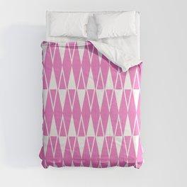 Mid Century Modern Diamond Pattern Pink 234 Comforters