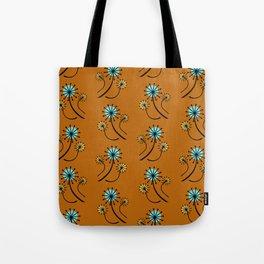 Mid Century Modern Dandelions on orange Tote Bag
