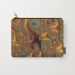 Fall Leaves - Fractal Art Carry-All Pouch
