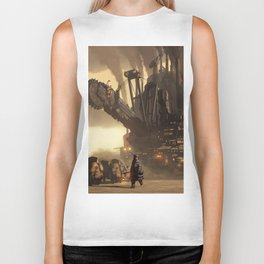 Steampunk Abstract Painting Biker Tank