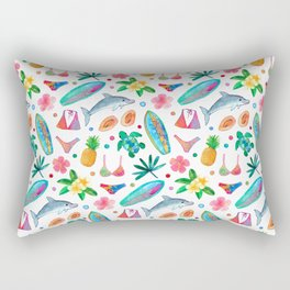 Dotty Summer Beach Pattern Rectangular Pillow