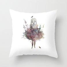 second nature Throw Pillow